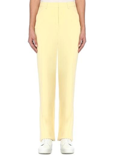Que Kumaş Pantolon Sarı